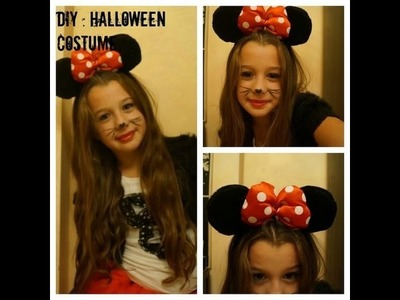 Minnie Mouse DIY Halloween Costume And Make up !