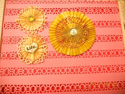 More ways to use Martha Stewart edges punches to create lace paper and rosettes