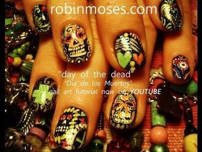 Nail Art Tutorials | DIY Sugar Skull Nails | Design for short nails