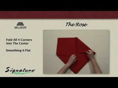 Napkin Folding Tutorial - How to fold a Rose napkin