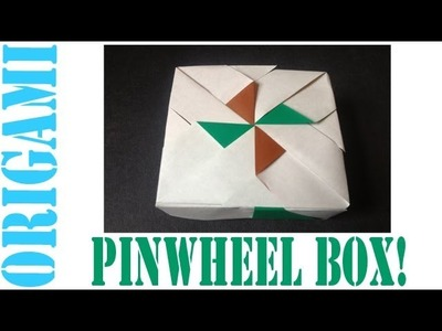 Origami Daily - 015: Square Box (Pinwheel LID) version 4 - TCGames [HD]