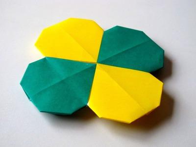 Origami - How to make a four-leaf CLOVER