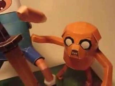 Papercraft Adventure Time Big Finn Jake
