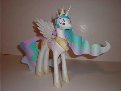 Papercraft Princess Celestia Time-Lapse