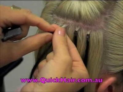 Quick Hair Loop Micro Link Hair Extension Application
