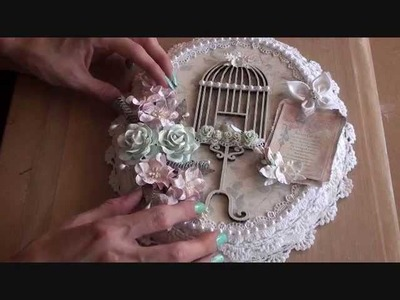 Shabbychic Birdcage Canvas  ( 2nd Design team project for Wild Orchid Crafts )