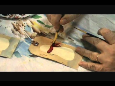 Starla's Candle Making - Painting Primitive Snowman Hang Tags