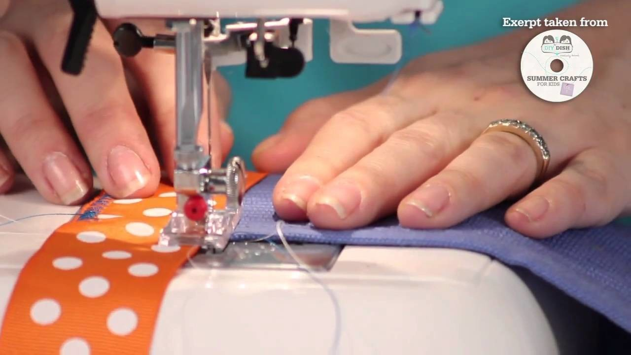 Summer Crafts for Kids - How to Make a Garden Apron - Beginner Sewing Project