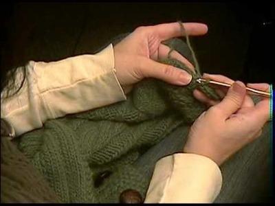 Tutorial: Crochet Scallop edge on a knit garment