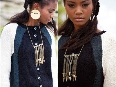 #24 Colorblock Cardigan, Vogue Knitting Fall 2013