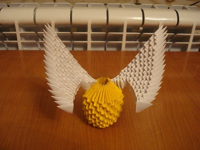 3D Origami Golden Snitch Tutorial from Harry Potter