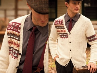 #4 Man's Fair Isle Cardi, Vogue Knitting Winter 2010.11