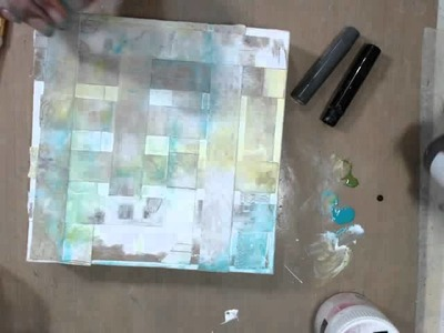 Altered Canvas tutorial - Mixed Media