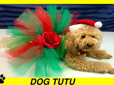 CHRISTMAS DOG TUTU SKIRT- XMAS FESTIVE DRESS - DIY Dog Craft by Cooking For Dogs