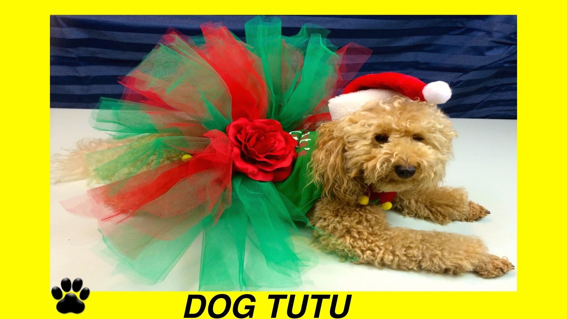 CHRISTMAS DOG TUTU SKIRT- XMAS FESTIVE DRESS - DIY Dog Craft by Cooking For Dogs