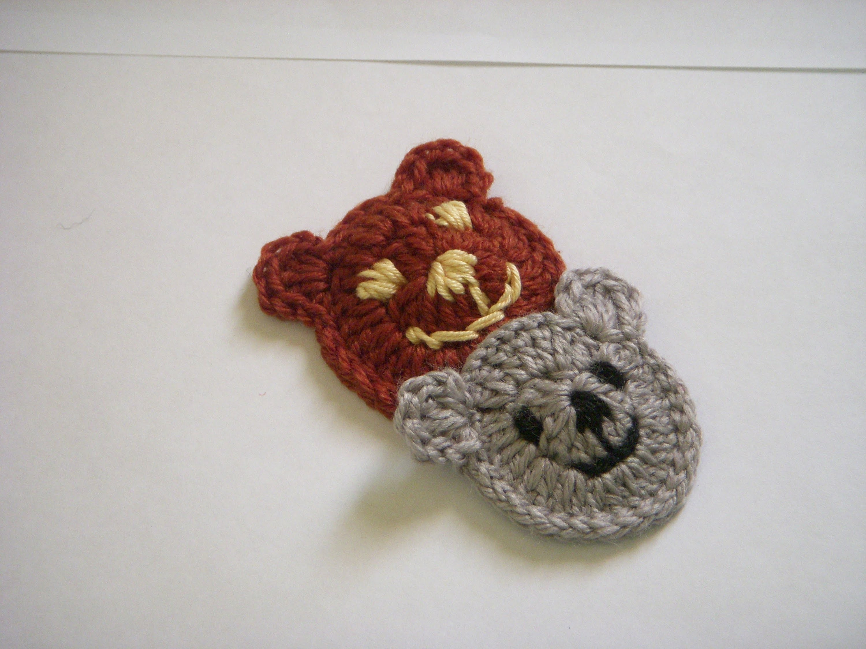Crochet Bear Applique