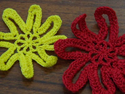 Crochet Flower Tutorial #11