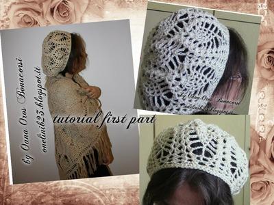 Crochet pineapple stitch beret I