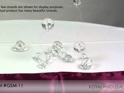 Crystal Beaded Curtains by Koyal Wholesale Wedding and Event Supplies