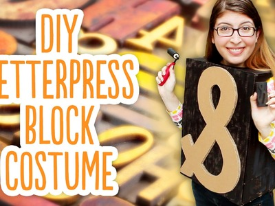 DIY Ampersand Letterpress Block Costume - Minimalist Halloween Costume Challenge 2014