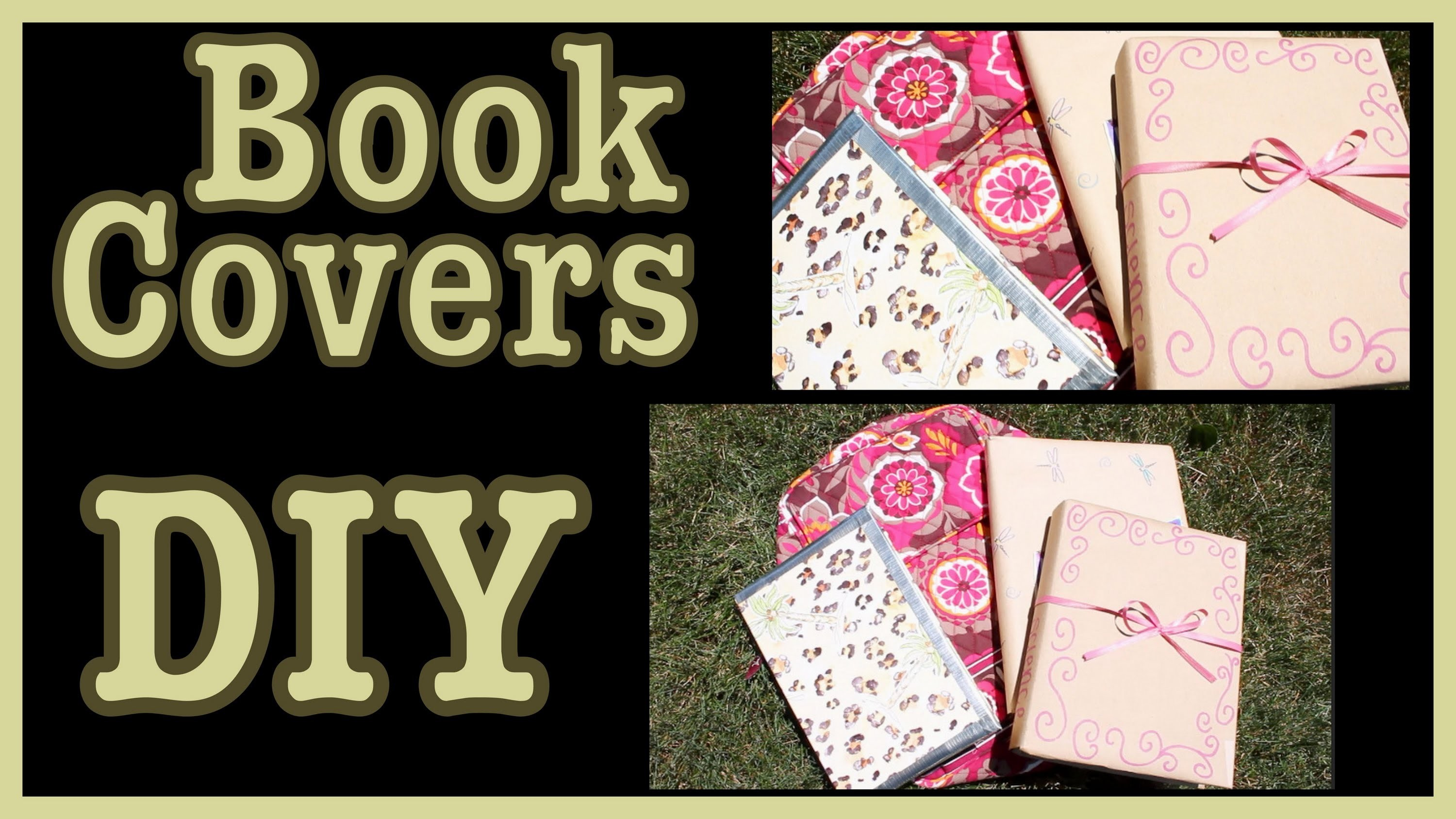 DIY: Book Covers | Ideas & How To Decorate Them!