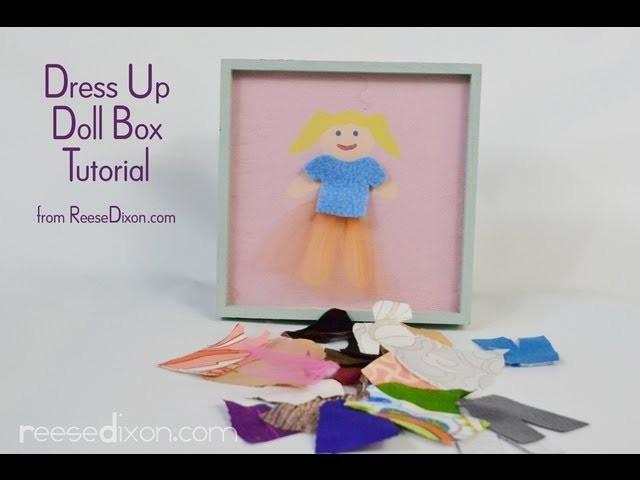 DIY Christmas gift for girls - Paper Dolls 2.0