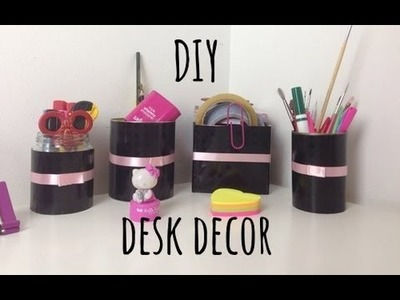 ✂ DIY Desk decor and organization