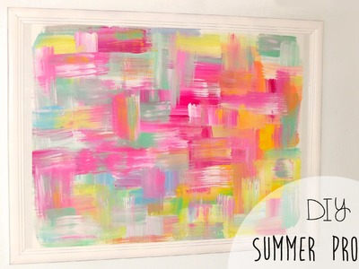 DIY easy room decor! Abstract wall art
