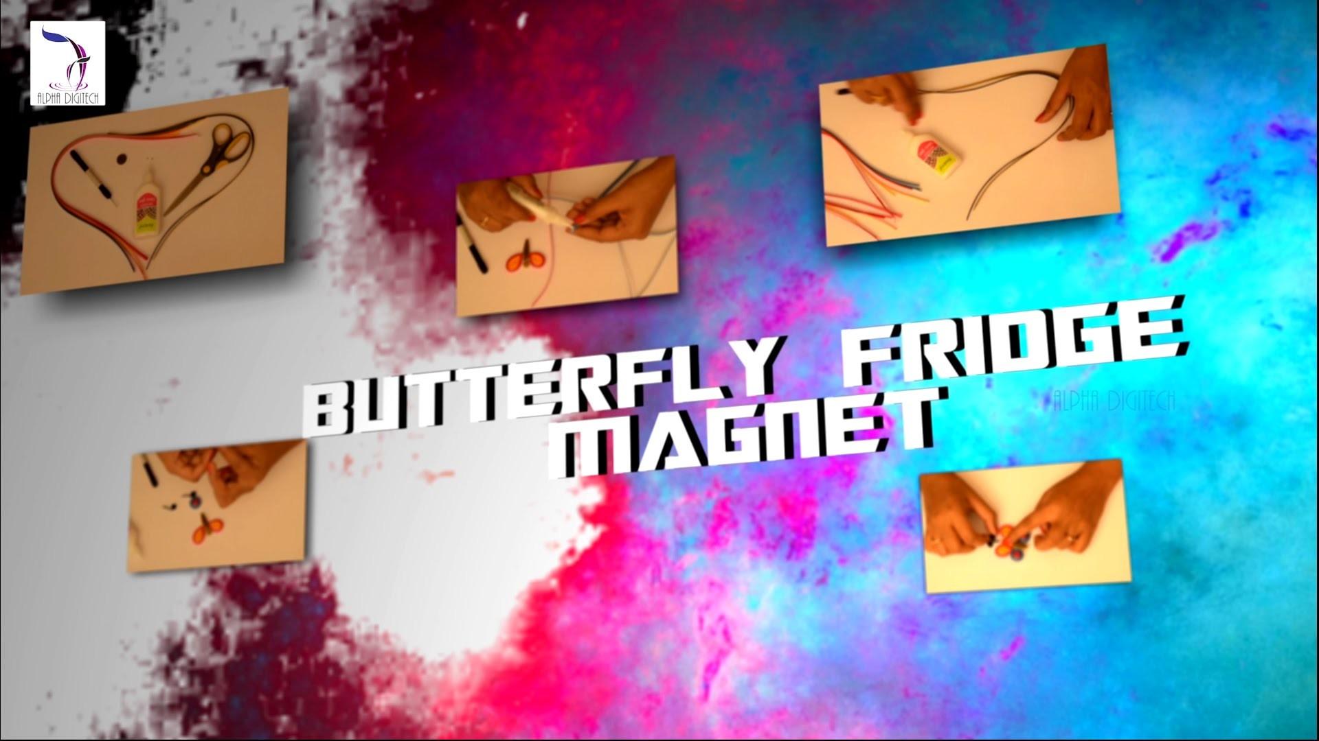 DIY : Fridge Magnet - Butterfly Design | Quilling Tutorial | Paper Quilling Fridge Magnets