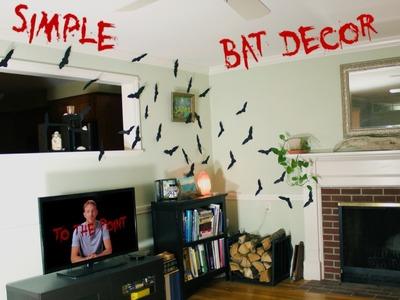 DIY Halloween Bat Decorations fast, easy, cheap 2014