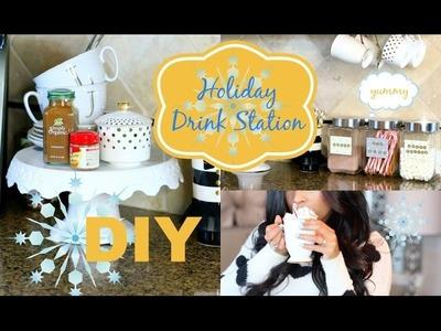 DIY Holiday Decor Drink Station - MissLizHeart