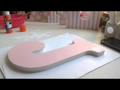 DIY | How To Decorate Wooden Letters #1