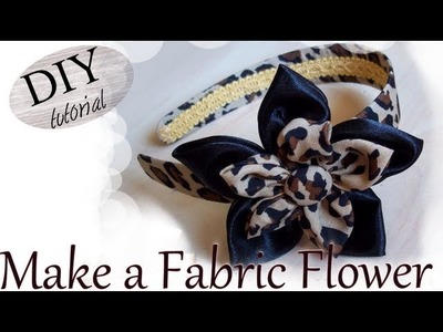 DIY: How To Make a Fabric Flower