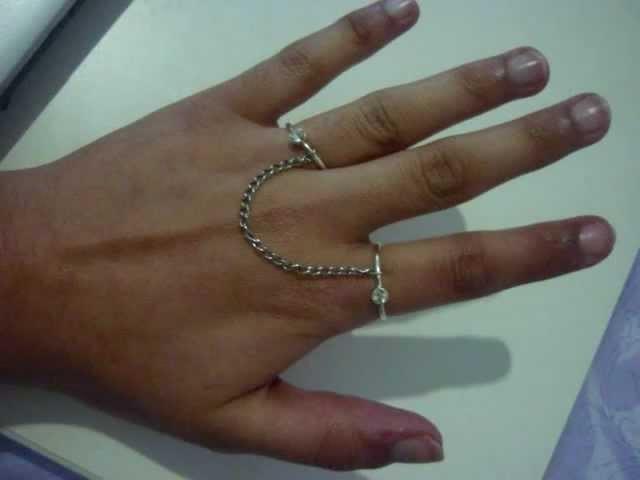 DIY: make a 2 finger ring