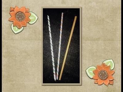 DIY Paper Straws by Kelly Barlow