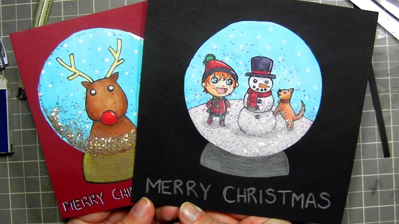 ★ DIY Snow Globe Christmas Card ★