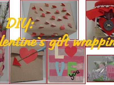 DIY valentine's Day gift wrapping ideas! Valentinstagsgeschenke verpacken!