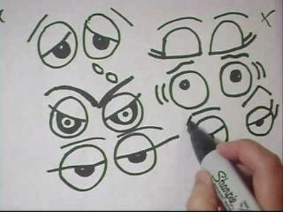 Drawing Eyes Tutorial Part 3- To replace googly eyes on crafts - EP