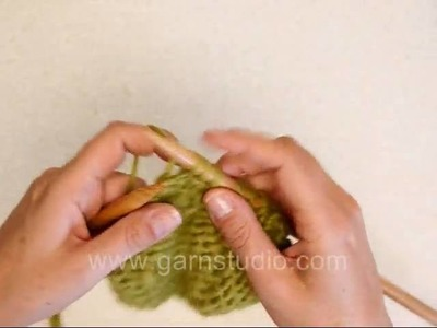 DROPS Knitting Tutorial: How to purl 3 stitches together
