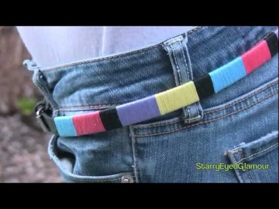 Easy DIY ColorBlock Belt! J.Crew Inspired!