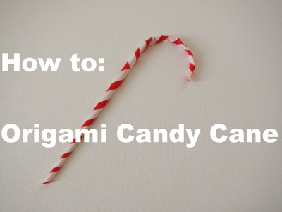 Easy origami candy cane ornament (heart and cheese remix)