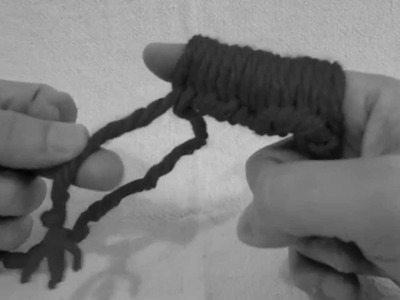 Finger knit 2 how to purl 1