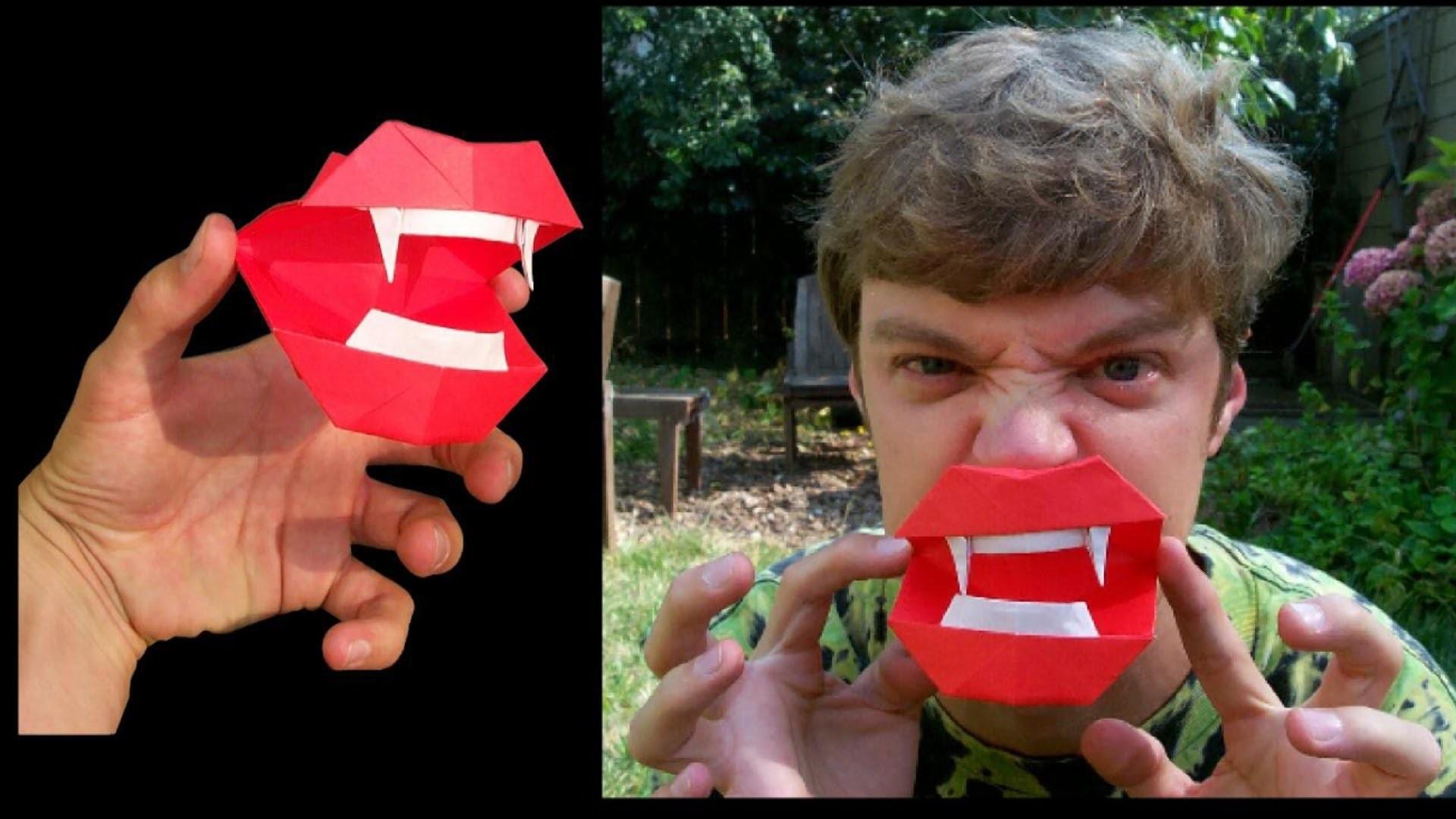Halloween Origami + Vampire Mouth tutorial