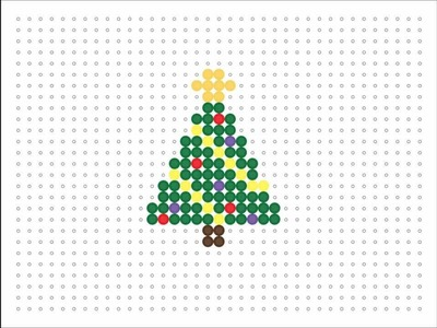 Hama Bead Christmas Tree (Christmas Series #2)