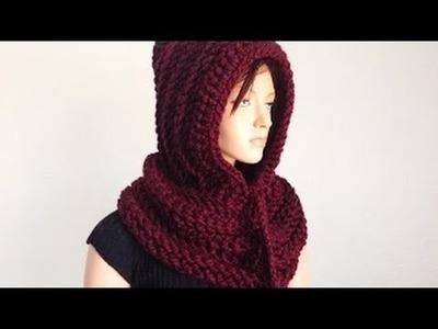 How to Crochet a Hooded Neckwarmer Ais Tutorial part-1