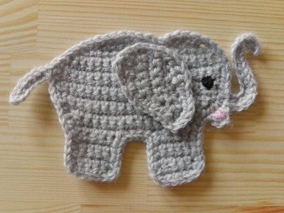 How to crochet an elephant for left handed
