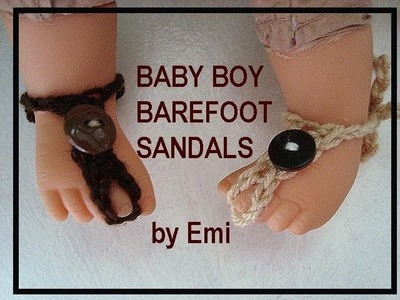 How to crochet BABY BOY BAREFOOT SANDALS