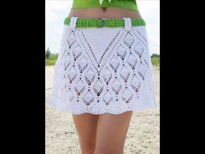 How to crochet summer beach skirt free pattern