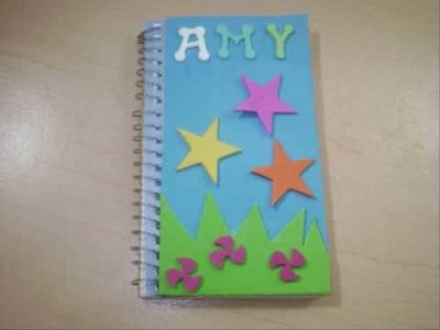 How to decorate a spiral notebook - EP