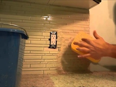 How To Grout A Backsplash-DIY Tutorial